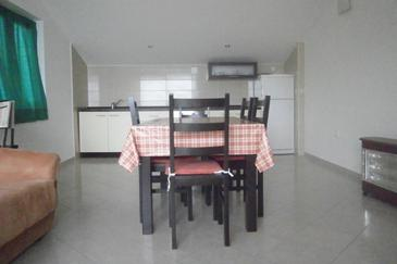 Tkon, Dining room in the apartment, air condition available.