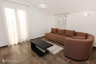 Biograd na Moru, Living room in the apartment, dostupna klima i WIFI.