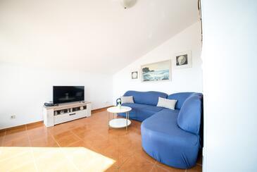 Vrsi - Mulo, Dnevna soba v nastanitvi vrste apartment, WiFi.