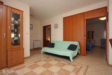 Zadar - Diklo, Living room in the apartment, dopusteni kucni ljubimci i WIFI.