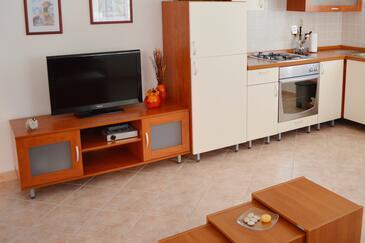Zadar - Diklo, Obývací pokoj v ubytování typu apartment, s klimatizací a WiFi.