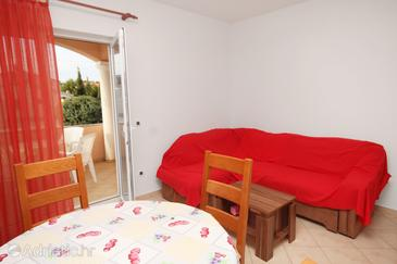 Vrsi - Mulo, Living room in the apartment, dostupna klima i WIFI.