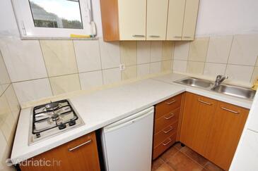 Bibinje, Kitchen in the studio-apartment, dopusteni kucni ljubimci.