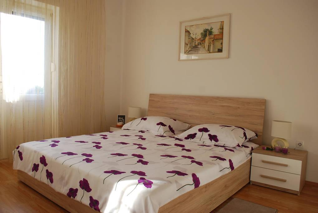 Zadar - Diklo, Spálňa 1 v ubytovacej jednotke apartment, WiFi.