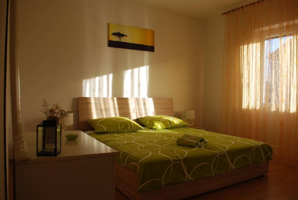 Zadar - Diklo, Spálňa 2 v ubytovacej jednotke apartment, WiFi.