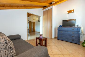 Ražanac, Living room in the apartment, WIFI.