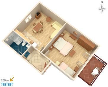 Biograd na Moru, Proiect în unitate de cazare tip apartment, WiFi.