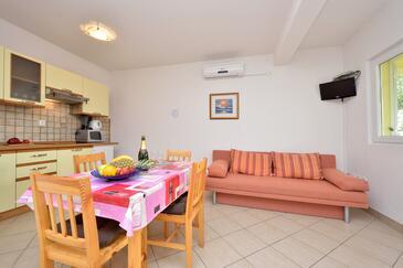 Drage, Obývací pokoj v ubytování typu apartment, domácí mazlíčci povoleni a WiFi.