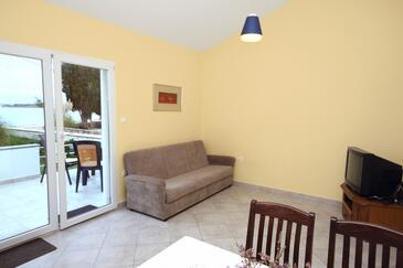 Zaton, Obývacia izba v ubytovacej jednotke house, dopusteni kucni ljubimci i WIFI.