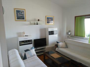 Zadar - Diklo, Living room in the apartment, WIFI.