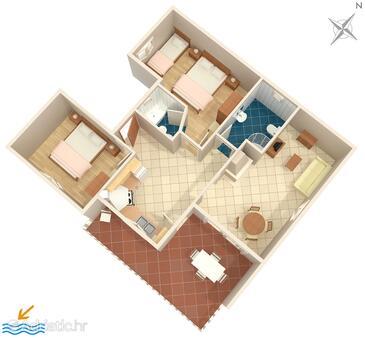 Ivan Dolac, План в размещении типа apartment, Домашние животные допускаются и WiFi.