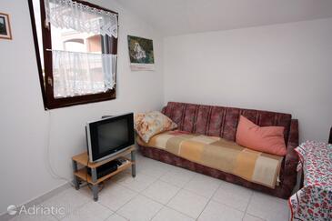 Vrsi - Mulo, Living room in the apartment, dopusteni kucni ljubimci.