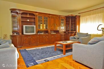 Zadar, Living room in the apartment, dopusteni kucni ljubimci i WIFI.
