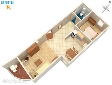 Zadar, Plan kwatery w zakwaterowaniu typu apartment, WiFi.