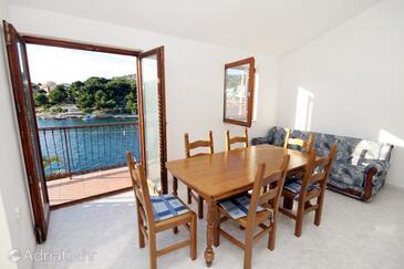 Ražanj, Jídelna v ubytování typu apartment, domácí mazlíčci povoleni a WiFi.