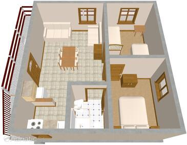 Mudri Dolac, Plan in the apartment.