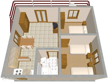 Mudri Dolac, Plan in the apartment.