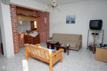 Okrug Donji, Living room in the apartment, dostupna klima, dopusteni kucni ljubimci i WIFI.