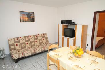 Vinišće, Living room in the apartment.