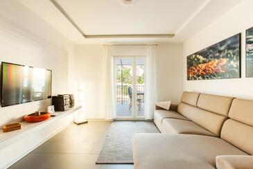 Mavarštica, Obývacia izba v ubytovacej jednotke apartment, dopusteni kucni ljubimci.