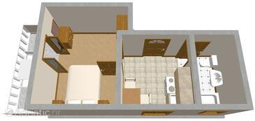 Sobra, Grundriss in folgender Unterkunftsart apartment, Haustiere erlaubt.