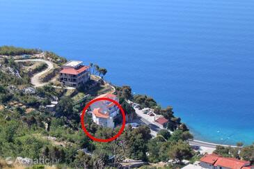 Lokva Rogoznica, Omiš, Objekt 6004 - Ubytování v blízkosti moře s oblázkovou pláží.