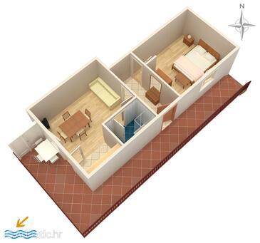 Trogir, Načrt v nastanitvi vrste apartment, WiFi.