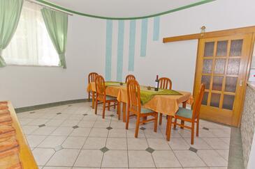 Brela, Salle à manger dans l'hébergement en type apartment, animaux acceptés et WiFi.