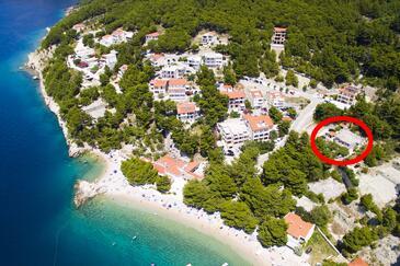 Brela, Makarska, Objekt 6056 - Ubytování v blízkosti moře s oblázkovou pláží.