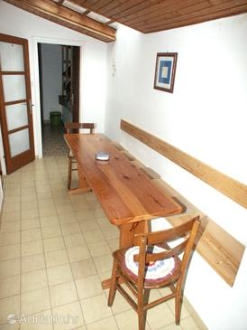 Babine Kuće, Dining room in the apartment, (pet friendly) and WiFi.