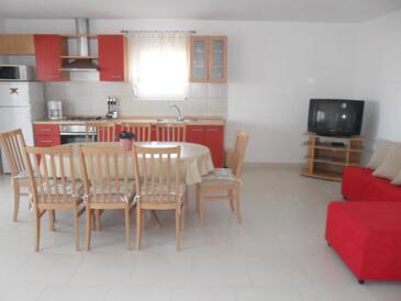 Ljubač, Obývací pokoj v ubytování typu apartment, WiFi.