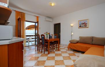 Nin, Obývací pokoj v ubytování typu apartment, WIFI.