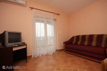 Sveti Petar, Obývací pokoj v ubytování typu apartment, s klimatizací a WiFi.