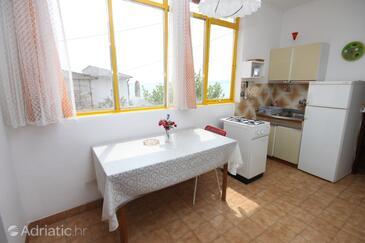 Sveti Petar, Jídelna v ubytování typu apartment, s klimatizací, domácí mazlíčci povoleni a WiFi.