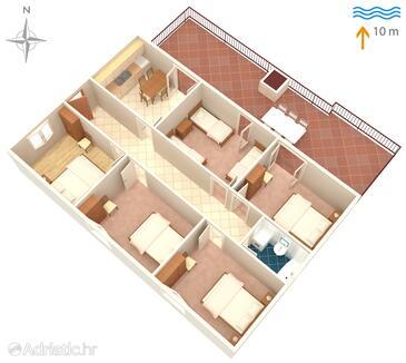 Prožurska Luka, План в размещении типа apartment, WiFi.