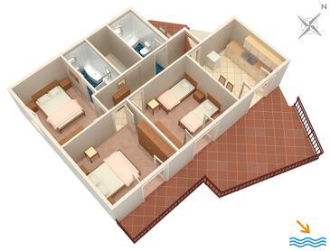 Prožurska Luka, Proiect în unitate de cazare tip apartment, animale de companie sunt acceptate şi WiFi.