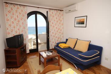 Kožino, Living room in the apartment, dostupna klima i WIFI.