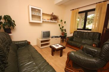 Vinjerac, Obývacia izba v ubytovacej jednotke apartment, WIFI.