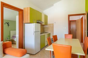 Posedarje, Jídelna v ubytování typu apartment, s klimatizací a WiFi.