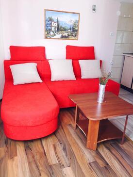 Podgradina, Living room in the apartment, WIFI.