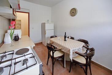 Bibinje, Jídelna v ubytování typu apartment, s klimatizací a WiFi.