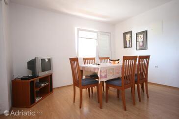 Rtina - Miočići, Dining room in the apartment, dopusteni kucni ljubimci.