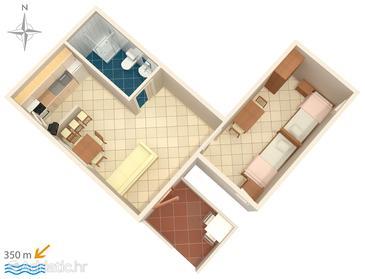 Biograd na Moru, Plan in the apartment, WIFI.
