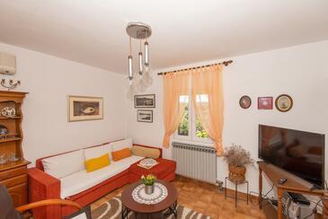 Molat, Dnevna soba v nastanitvi vrste apartment, dostopna klima in Hišni ljubljenčki dovoljeni.