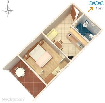 Sabunike, Plan in the apartment, WIFI.