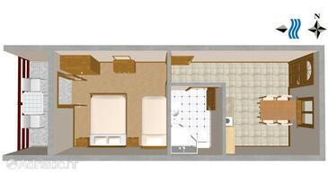 Prapratno, Plan in the apartment, WIFI.