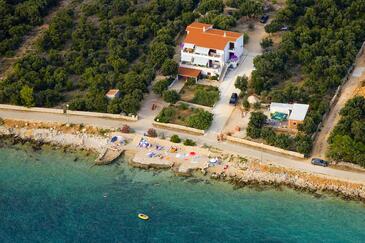 Mandre, Pag, Objekt 6284 - Ubytování v blízkosti moře s oblázkovou pláží.