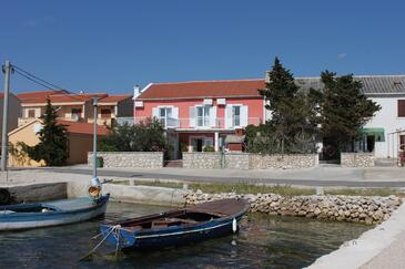 Kustići, Pag, Obiekt 6288 - Pokoje przy morzu ze żwirową plażą.