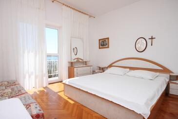 Kustići, Sypialnia w zakwaterowaniu typu room, Dostępna klimatyzacja i WiFi.