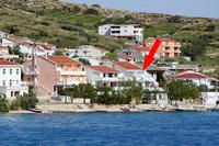 Апартаменты у моря Metajna (Pag) - 6289
